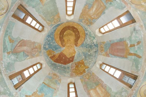 Собор Рождества Богородицы. Купол, барабан и паруса. Христос Вседержитель 1