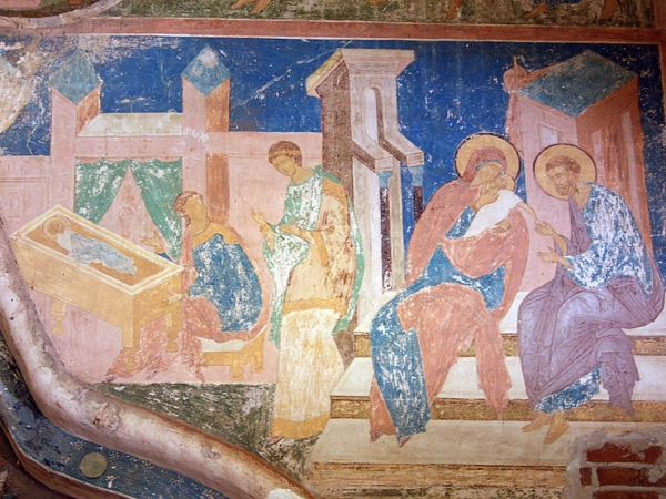 Фрагмент фрески над порталом 2
