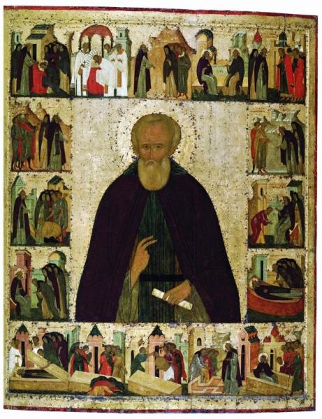 Преподобный Димитрий Прилуцкий с житием. Спасо-Прилуцкий монастырь (Дионисий и мастерская)