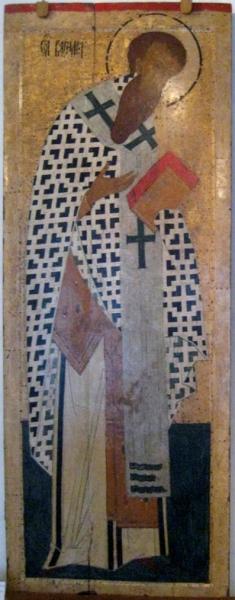 Cвятитель Василий Великий. Около 1502 года. Дионисий. Собор Рождества Богородицы Ферапонтова монасты