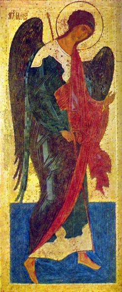 Архангел Михаил. Из деисусного чина Ферапонтова монастыря. 1502. Государственная Третьяковская галер