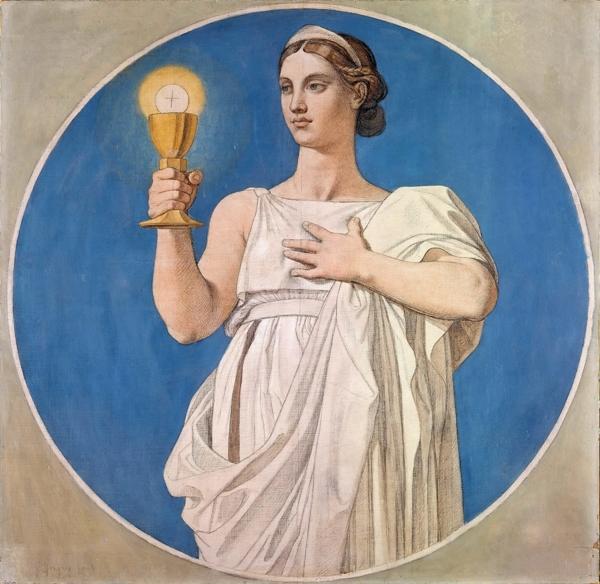 1842 Аллегория веры (110 см) (Париж, Лувр)