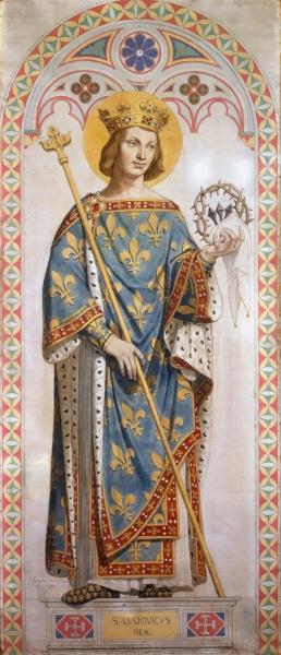 1842 Святой Людовик, король Франции (210 х 92 см) (Париж, Лувр)