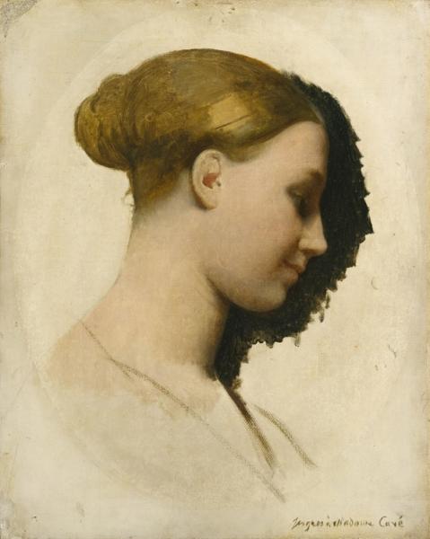 1831-1834 Мадам Эдмонд Кэйв (Мари-Элизабет Блаво, родилась в 1810 (40.6 х 32.7 см) (Нью-Йорк, Метроп