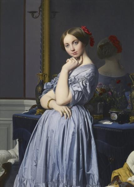1845. Графини д'Оссонвиль (131.8 х 92 см) (Нью-Йорк, коллекция Фрик)
