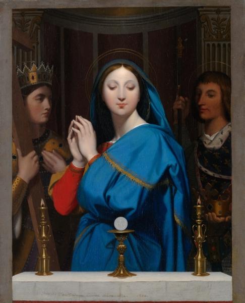 1852 Мадонна со святыми (40.3 х 32.7 см) (Нью-Йорк, Метрополитен)