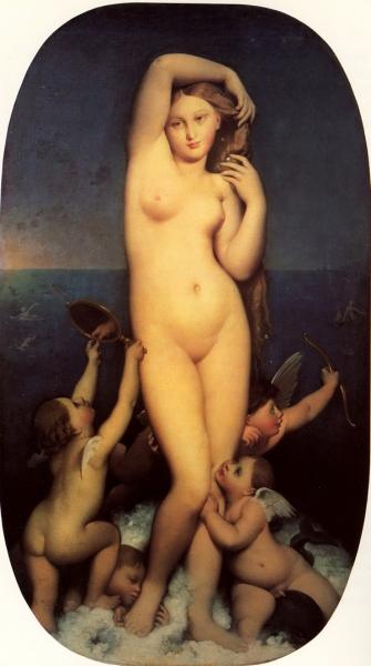 1848 (ок) Рождение Венеры (Венера Анадиомена) (164 х 82 см) (Шантильи, музей Конде)