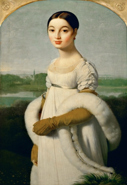 1806. Мадмуазель Ривьер (100 х 70 см) (Париж, Лувр)