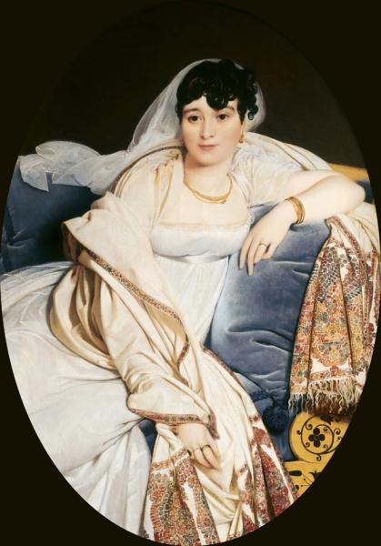 1806. Мадам Ривьер (117 х82 см) (Париж, Лувр)