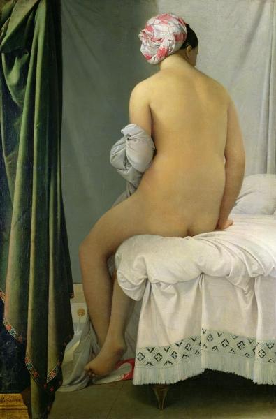 1808. Купальщица (146 х 97.5 см) (Париж, Лувр)