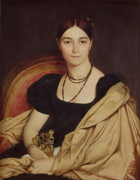 1807. Портрет мадам Девосе (76 х 59 см) (Шантильи, музей Конде)