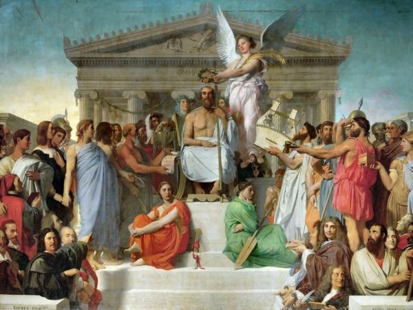 1827. Апофеоз Гомера (386 х 512 см) (Париж, Лувр)