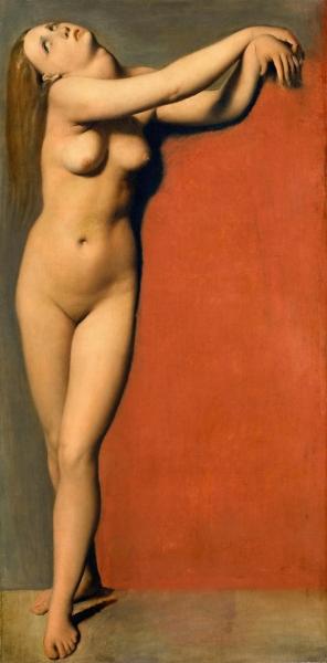 1819, Роже, освобождающий Анжелику (этюд Анжелики) (84 х 42 см) (Париж, Лувр)