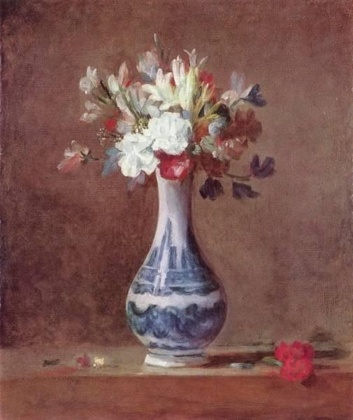 Натюрморт с цветами в вазе