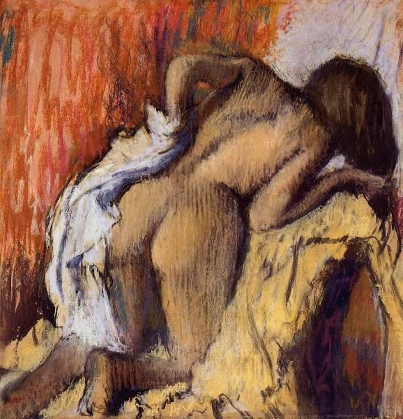 Женщина, вытирающая тело (1896-1898)