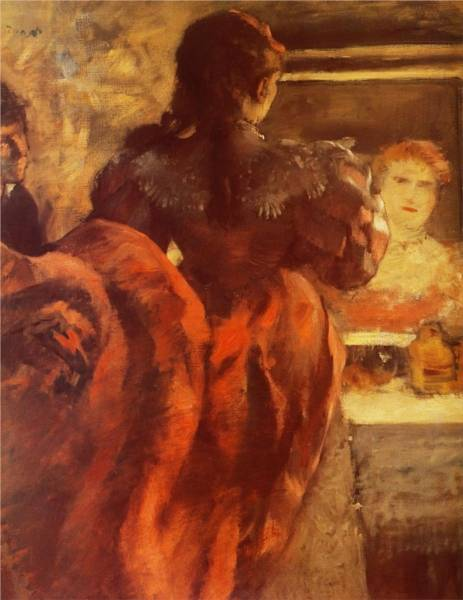Танцовщица в своей гримёрке (ок.1879)