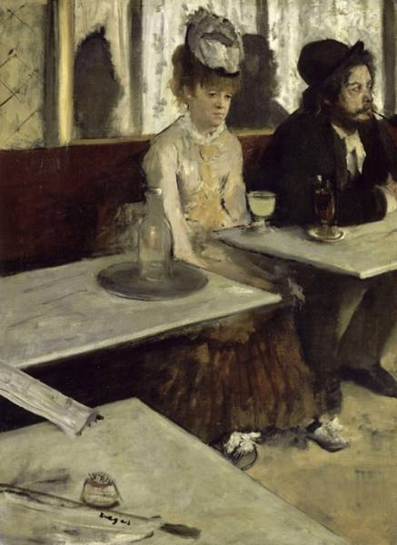 Любительница абсента (В кафе) (1873) (92 х 68) (Париж, музей Орсэ)