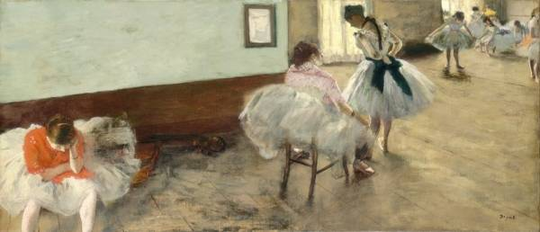 Урок танца (ок.1874) (38 х 88) (Вашингтон, Нац.галерея)