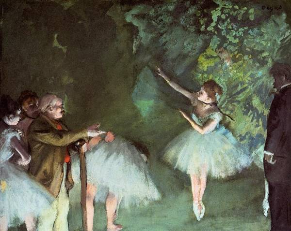 Репетиция балета (1875) (55 х 76)