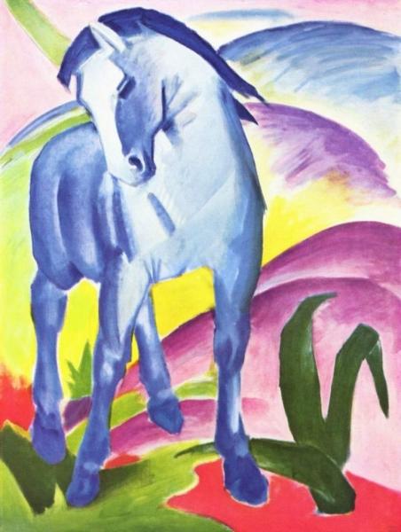 Синий конь