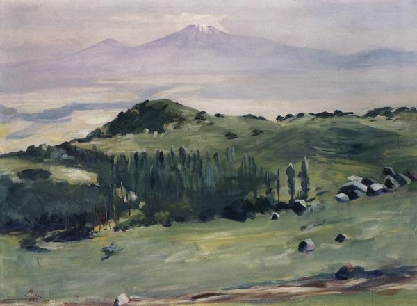 Со склонов Арагаца. 1951