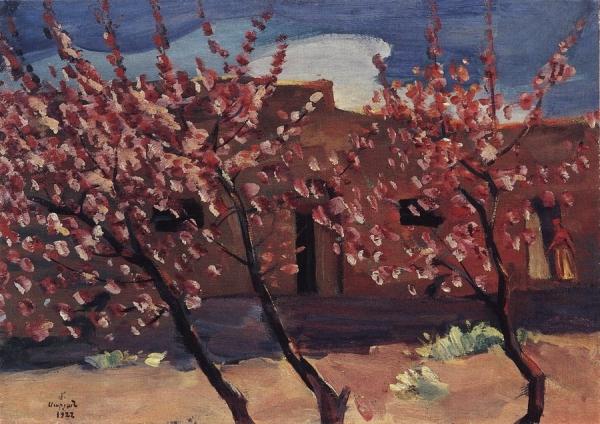 Цветущие деревья. 1922