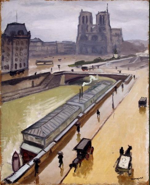 Дождливый день в Париже. Нотр-Дам» (1910, Эрмитаж, Санкт-Петербург)