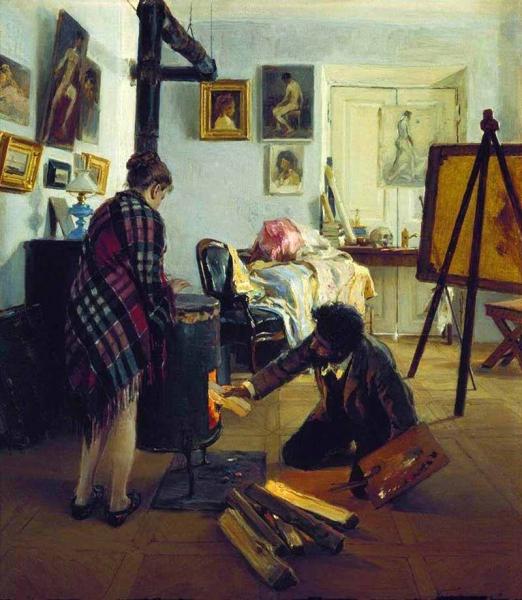 «В мастерской художника» 1890