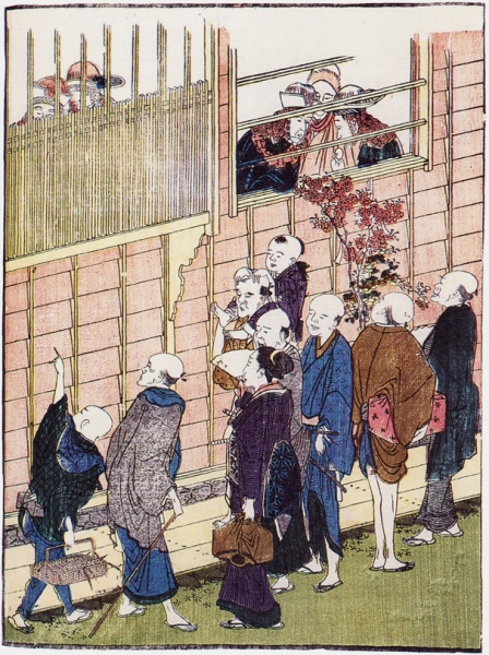 Сцена из Dejima, Nagasaki_ок.1800