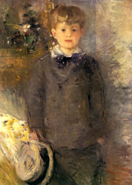 1880 Little boy in gray