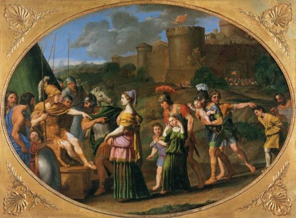 Пленненная Тимоклиа перед Александром
