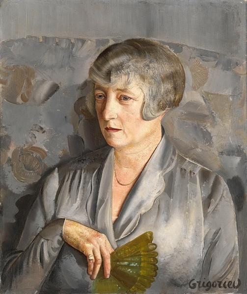 Портрет мадам Бартелеми с зеленым веером