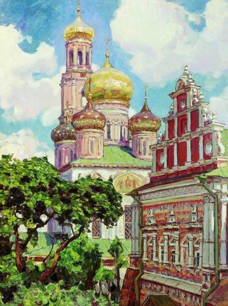 Симонов монастырь. Облака и золотые купола. 1927