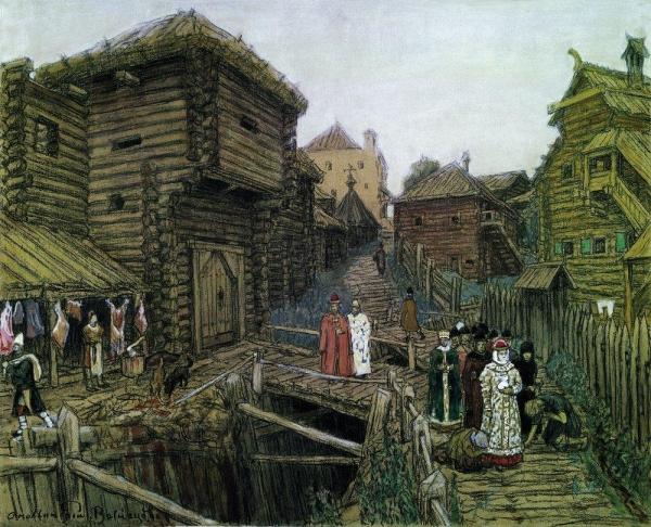 Выход боярыни (боярыня, княгиня). 1909