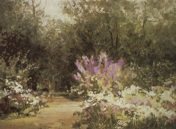 Аллея в Абрамцеве. 1917