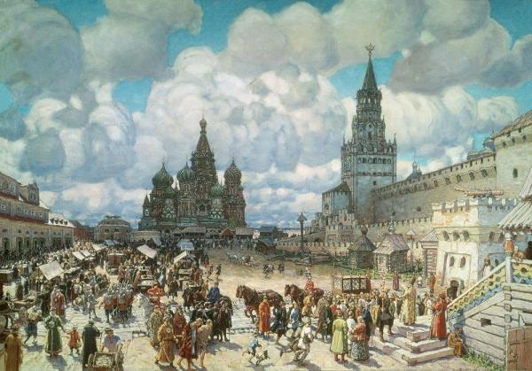 Красная площадь во второй половине XVII века. 1925