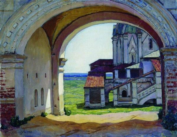 Коломенское. Ворота башни Часозвон. 1927