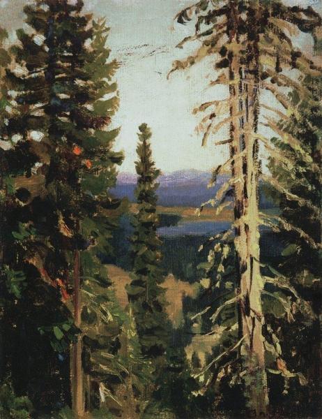 Лес на горе Благодать. Средний Урал. 1890-е