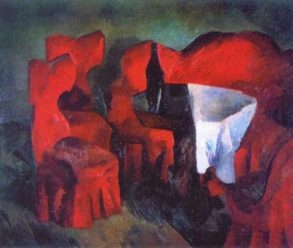 Красная мебель
