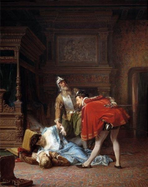 Сцена из Варфоломеевской ночи 1870