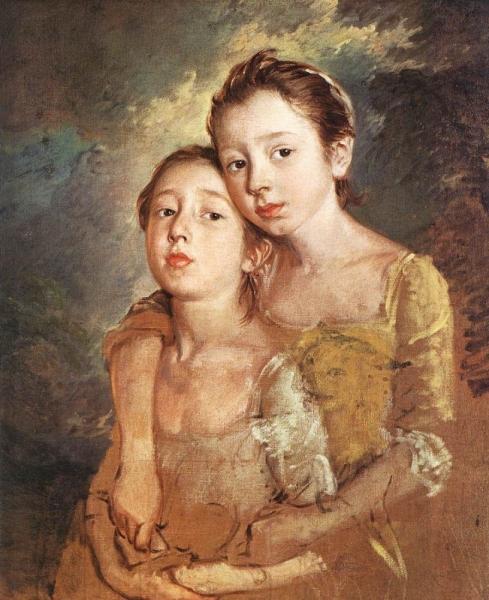 Дочери художника с кошкой
