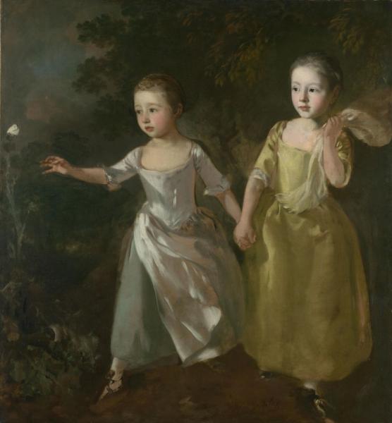 Дочери художника, бегущие за бабочкой