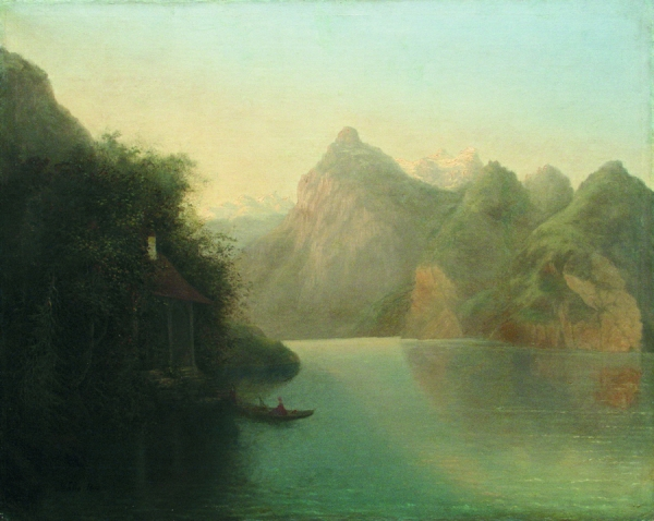 Горный пейзаж с озером