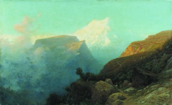 Туман в горах. Кавказ