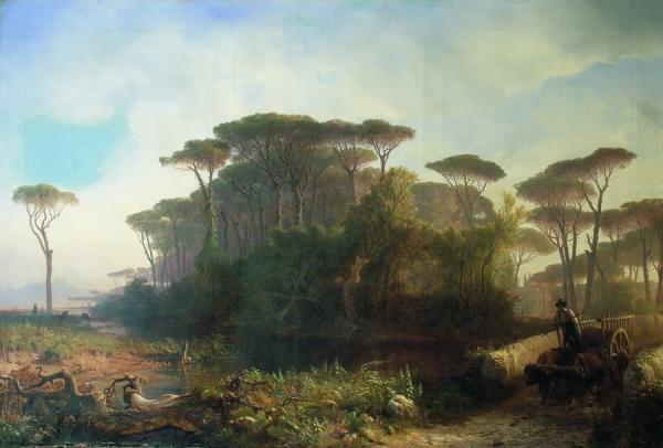 Пейзаж в Кастель-Фузано