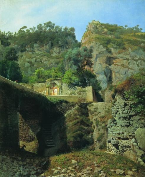 Вид Капо ди Монте в Сорренто