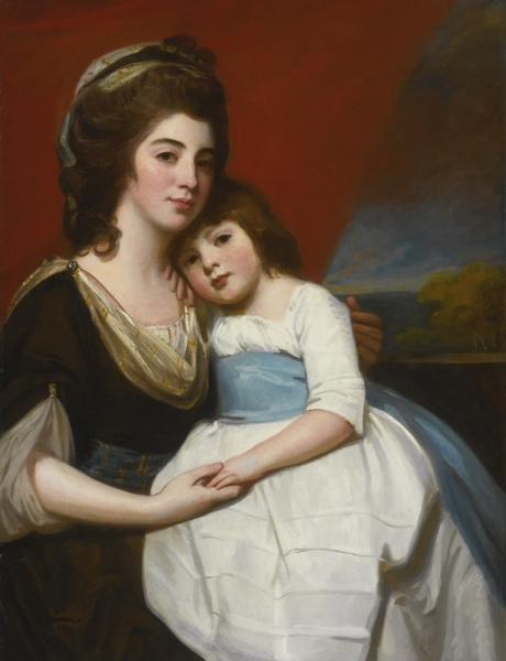 Леди Джорджиана Смит с сыном