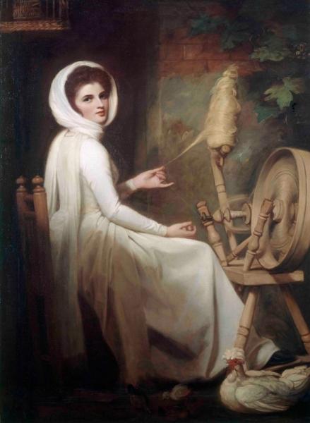 Эмма Гамильтон в образе пряхи