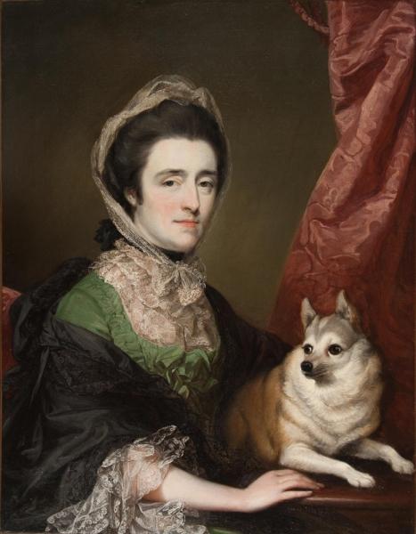 Портрет миссис Энн Дэшвуд с собакой
