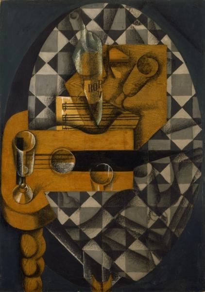 Гитара и бокалы